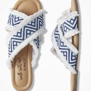 """COLDWATER CREEK """"Cabana"""" Canvas Slides Wak With Me"""